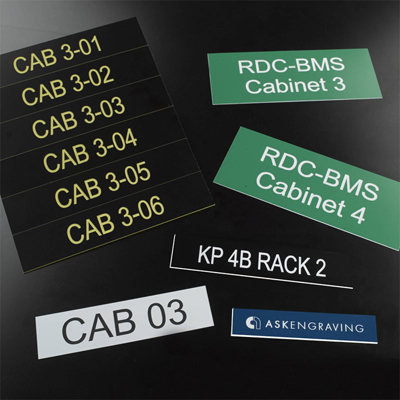 Patch Panel, Outlet & Cabinet Labels | Ask Engraving